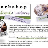 Workshop: Kräuterkosmetik & Handlettering von *KräuterGlück*