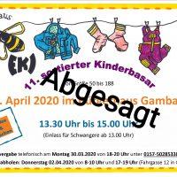 ABGESAGT: 11. sortierter Kinderbasar (Frühling/Sommer)